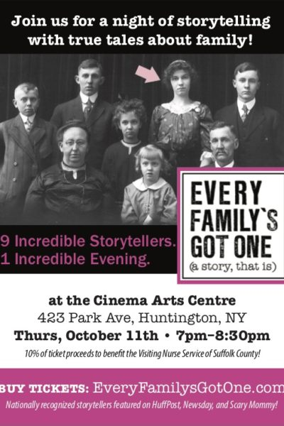 Storytelling About Family! Buy Your Tickets Online Today!